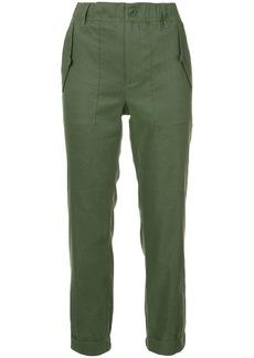 Vince plain cropped trousers
