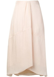 Vince pleat detail midi skirt