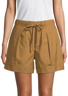 Vince Pleat-Front Shorts