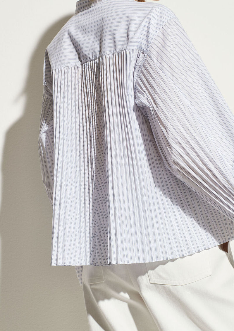Vince Pleated Back Button Down