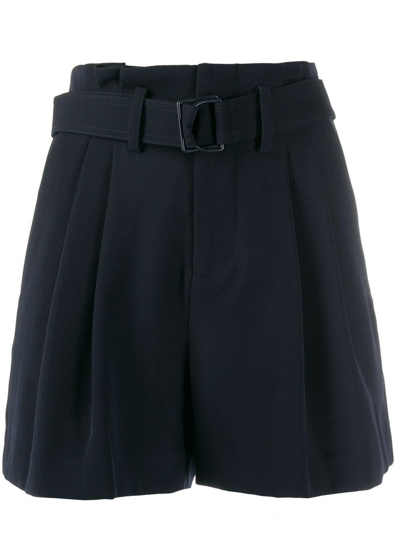 Vince pleated belted shorts