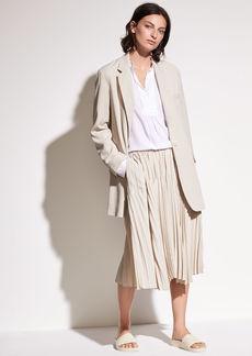 Pleated Italian Crepe de Chine Skirt