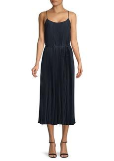 Vince Pleated Midi Dress