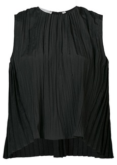 Vince pleated round neck blouse