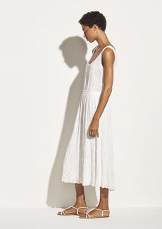 Vince Pleated Scoop Neck Tank Dress