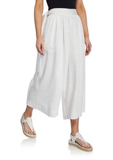 Vince Pleated Side-Tie Culottes