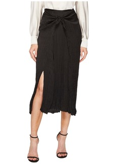 Vince Pleated Tie Front Skirt