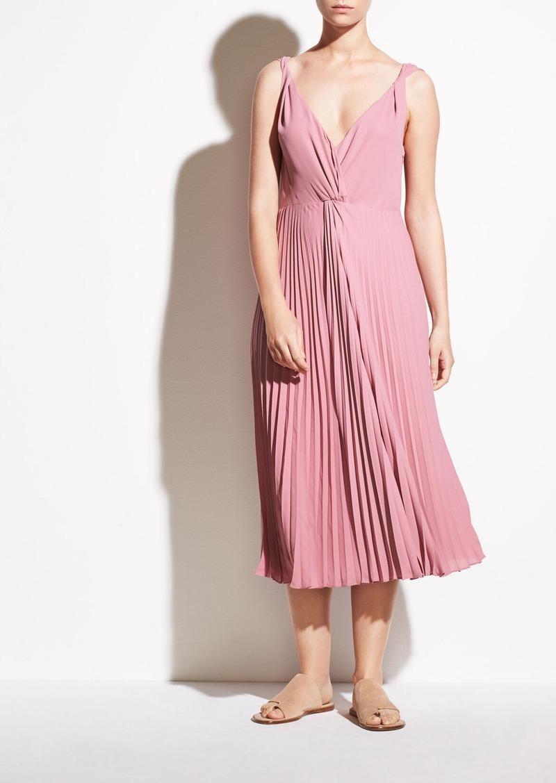 Vince Pleated Twist Front Dress