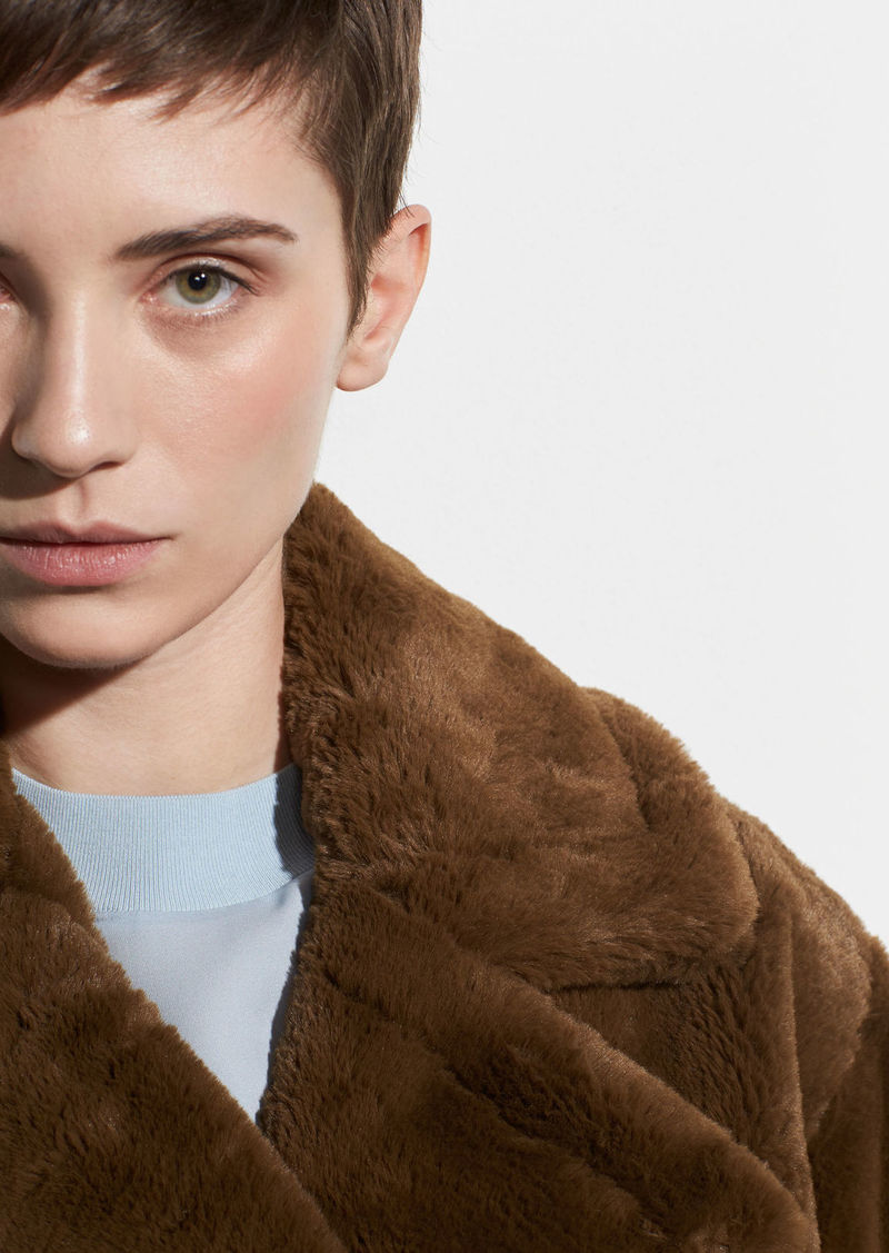 Vince Plush Faux Fur Coat