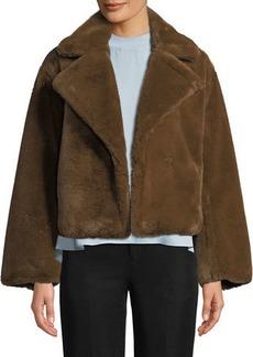 Vince Plush Faux-Fur Coat