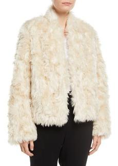 Vince Plush Faux-Fur Cropped Jacket