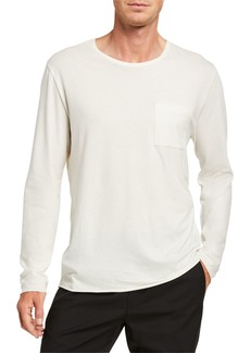 Vince Pocket-Front Long-Sleeve T-Shirt