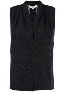 Vince polka dot sleeveless blouse