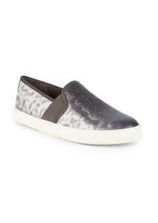 Vince Preston-B Leather Slip-On Sneakers