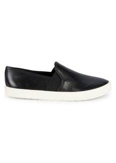 Vince Preston Leather Slip-On Sneakers