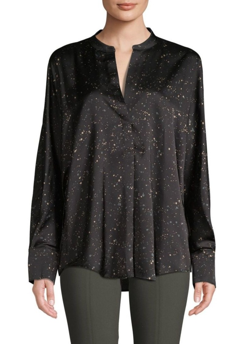 Vince Printed Long-Sleeve Top