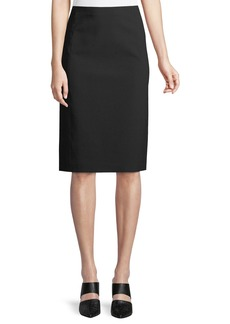 Vince Pull-On Ponte Pencil Skirt