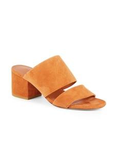 Vince PV Charleen Suede Block Heel Sandals