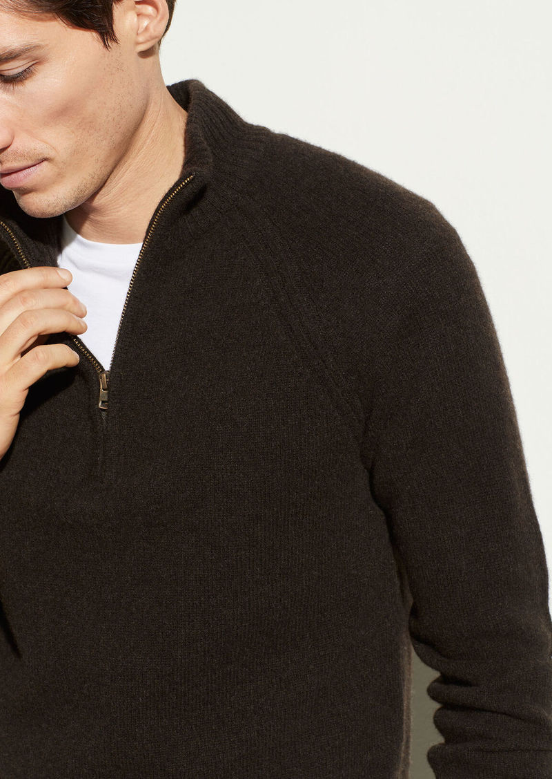 Vince Quarter Zip Long Sleeve Sweater