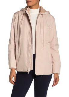 Vince Quilted Faux Shearling Lined Puffer Jacket