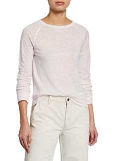 Vince Raglan-Sleeve Linen Sweater