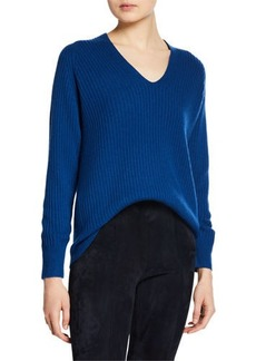 Vince Raglan-Sleeve Wool-Cashmere Sweater