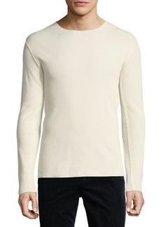Vince Raw-Edge Long-Sleeve T-Shirt