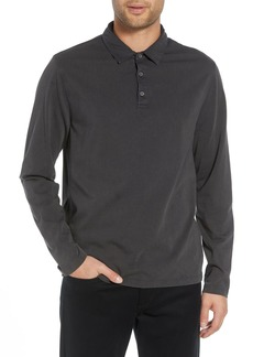 Vince Regular Fit Garment Dye Long Sleeve Polo