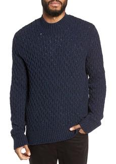 Vince Regular Fit Honeycomb Mock Neck Sweater