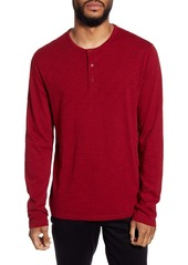 Vince Regular Fit Long Sleeve Henley Shirt