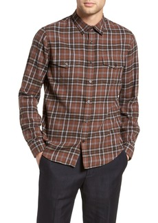 Vince Regular Fit Plaid Sport Shirt