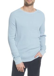 Vince Regular Fit Waffle Knit Cotton Blend Crew Neck T-Shirt