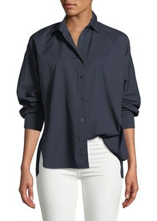 Vince Relaxed Cotton Button-Front Shirt