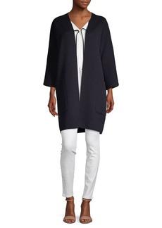 Vince Reversible Open-Front Cardigan Coat