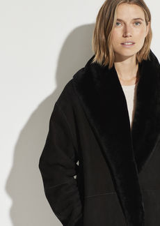 Vince Reversible Shearling Cardi Coat