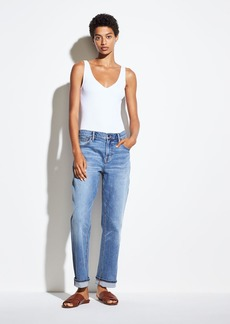 Vince Rib Double V-Neck Bodysuit