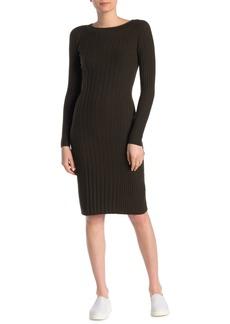 Vince Long Sleeve Rib Knit Dress