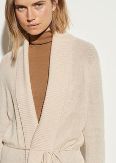 Vince Rib Trim Open Cardigan