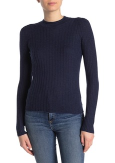Vince Ribbed Cashmere Long Sleeve Sweater