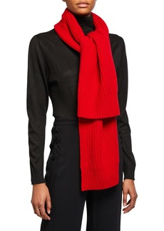 Vince Ribbed Cashmere Scarf