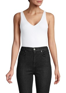 Vince Ribbed Cotton-Blend Bodysuit