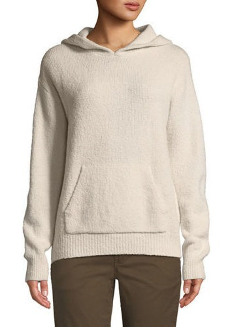 Vince Ribbed Cozy-Knit Pullover Hoodie