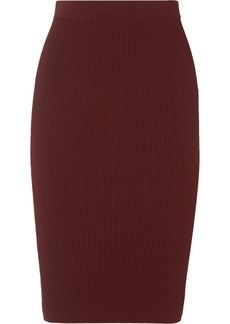 Vince Ribbed-knit Skirt