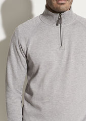 Vince Ribbed Quarter Zip Long Sleeve