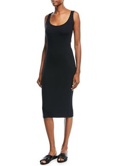 Vince Ribbed Scoop-Neck Tank Dress