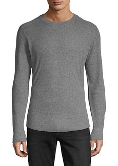 Vince Ribbed Stretch-Cotton Sweater