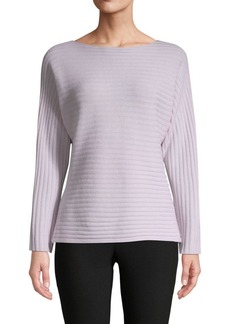 Vince Ribbed Tie-Back Wool-Cashmere Sweater