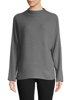 Vince Ribbed Wool & Cashmere Funnelneck Sweater