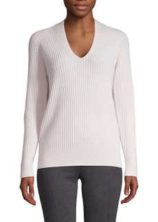 Vince Ribbed Wool & Cashmere Top
