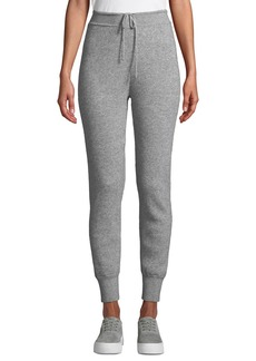 Vince Ribbed Wool-Cashmere Jogger Pants